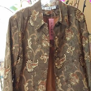 Beaded Brocade Jacket